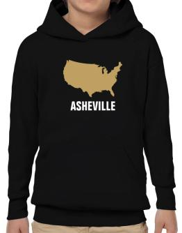 Asheville - Usa Map Hoodie-Boys