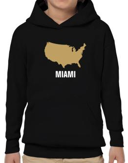 Miami - Usa Map Hoodie-Boys