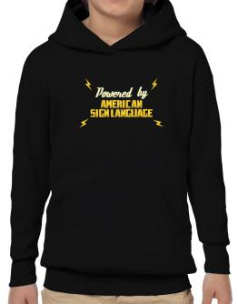 Powered By American Sign Language Hoodie-Boys