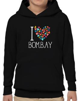 I love Bombay colorful hearts Hoodie-Boys