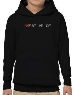 I love Peace And Love cool style Hoodie-Boys