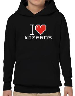 I love Wizards pixelated Hoodie-Boys