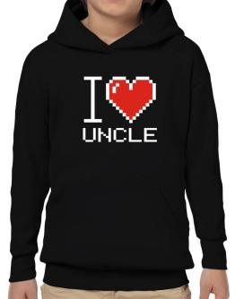 I love Auncle pixelated Hoodie-Boys