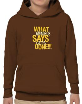 What Amadeus Says Gets Done!!! Hoodie-Boys