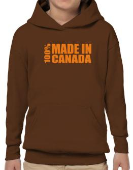 100% Made In Canada Hoodie-Boys