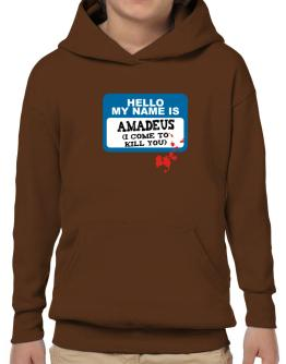 """ Hello, my name is Amadeus "" Hoodie-Boys"