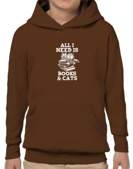 All I need is books and cats Hoodie-Boys