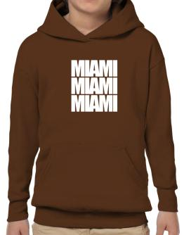 Miami three words Hoodie-Boys