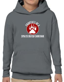 Property of a spoiled British Shorthair Hoodie-Boys