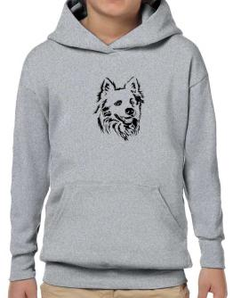 """ Australian Cattle Dog FACE SPECIAL GRAPHIC "" Hoodie-Boys"