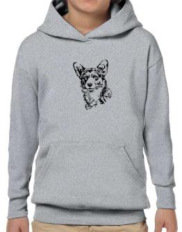Pembroke Welsh Corgi Face Special Graphic Hoodie-Boys