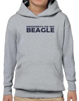 Property Of My Beagle Embroidery Hoodie-Boys