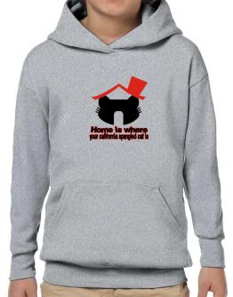 Home Is Where California Spangled Cat Is Hoodie-Boys