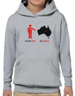 I Left My Heart In Australia - Map Hoodie-Boys