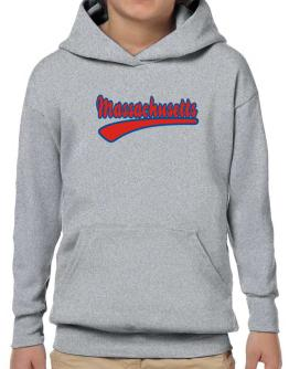 Retro Massachusetts Hoodie-Boys