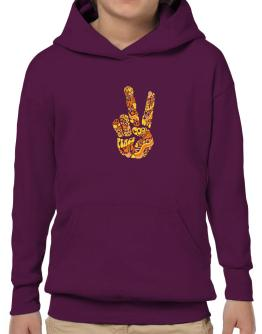 Peace Sign - Hand Collage Hoodie-Boys