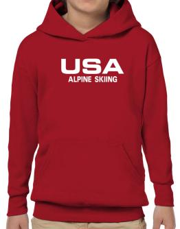 Usa Alpine Skiing / Athletic America Hoodie-Boys
