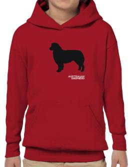 Australian Shepherd Stencil / Chees Hoodie-Boys