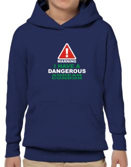 Warning! I Have A Dangerous Andean Condor Hoodie-Boys