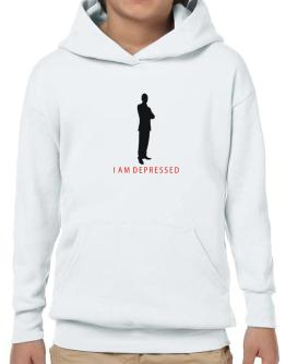 I Am Depressed - Male Hoodie-Boys