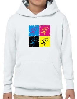 Triathlon - Pop Art Hoodie-Boys