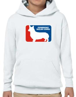 Pembroke Welsh Corgi Sports Logo Hoodie-Boys