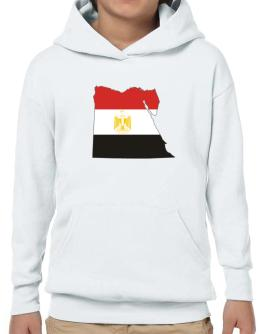Egypt - Country Map Color Simple Hoodie-Boys