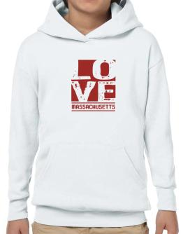 Love Massachusetts Hoodie-Boys