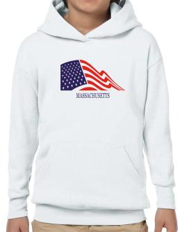 Flag Usa Massachusetts Hoodie-Boys