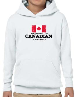 Property of Canadian Nation Hoodie-Boys