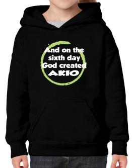 And On The Sixth Day God Created Akio Hoodie-Girls