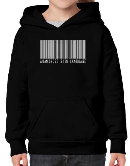 Adamorobe Sign Language Barcode Hoodie-Girls