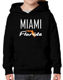 """ Miami - State Map "" Hoodie-Girls"