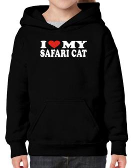 I Love My Safari Hoodie-Girls