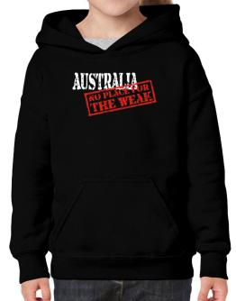 Australia No Place For The Weak Hoodie-Girls