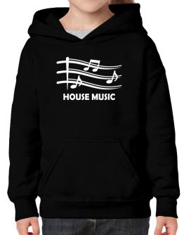 House Music - Musical Notes Hoodie-Girls