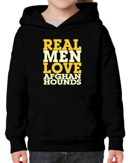 Real Men Love Afghan Hounds Hoodie-Girls