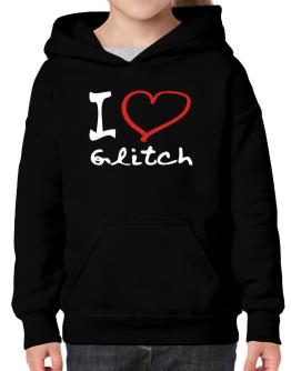 I Love Glitch Hoodie-Girls