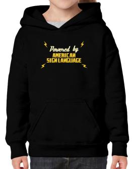 Powered By American Sign Language Hoodie-Girls