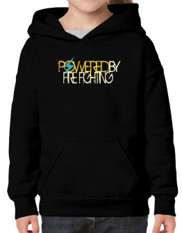 Powered By Fire Fighting Hoodie-Girls