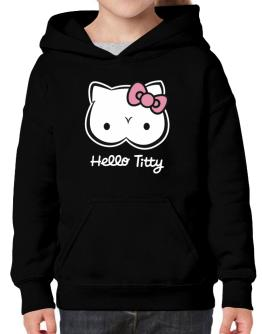 Hello Titty Design Hoodie-Girls