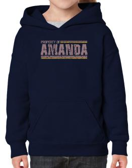 Property Of Amanda - Vintage Hoodie-Girls