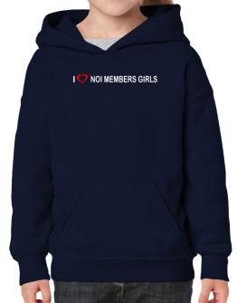I love Noi Members Girls Hoodie-Girls