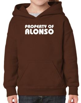 """ Property of Alonso "" Hoodie-Girls"