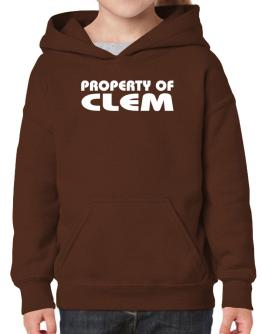 """ Property of Clem "" Hoodie-Girls"