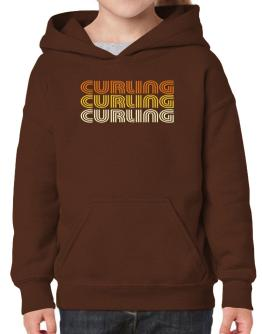 Curling Retro Color Hoodie-Girls