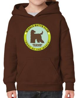 Afghan Hound - Wiggle Butts Club Hoodie-Girls