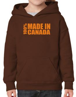 100% Made In Canada Hoodie-Girls