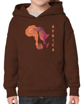 Africa map cool design Hoodie-Girls
