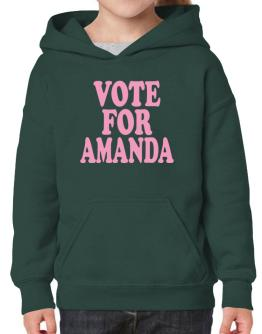 Vote For Amanda Hoodie-Girls